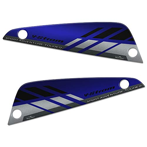 Adhesivos 3D compatibles con bolsos Suzuki V-STROM 650 XT ABS 2020-2021 azul