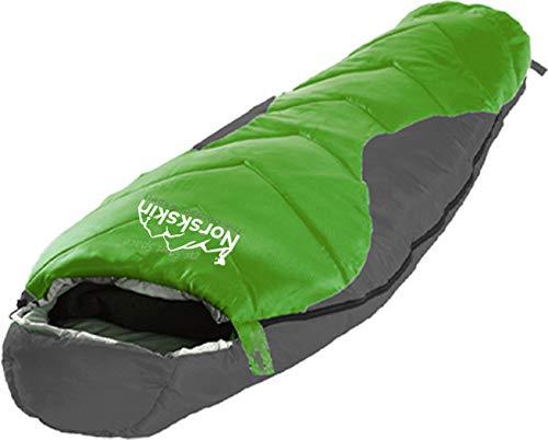 Norskskin L Mumienschlafsack Umea Schlafsack für 4 Jahreszeiten 1,9 Kg Leicht Extrem bis -23 Grad für Winter Sommer Frühjahr Herbst Koppelbar