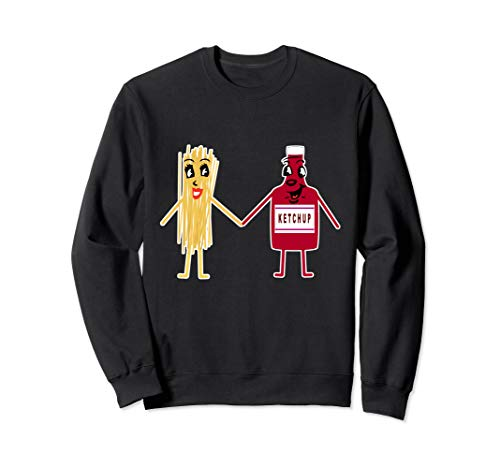 Spaghetti Nudeln Mit Ketchup Pasta I Lustiges Studenten Sweatshirt