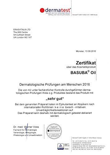 ERASVITAL® LTD Basuba® oil 100 ml eine innovative probiotische hautpflege mit bacillus subtilis für einen natürlichen hautschutz damit die haut im gleichgewicht bleibt vegan