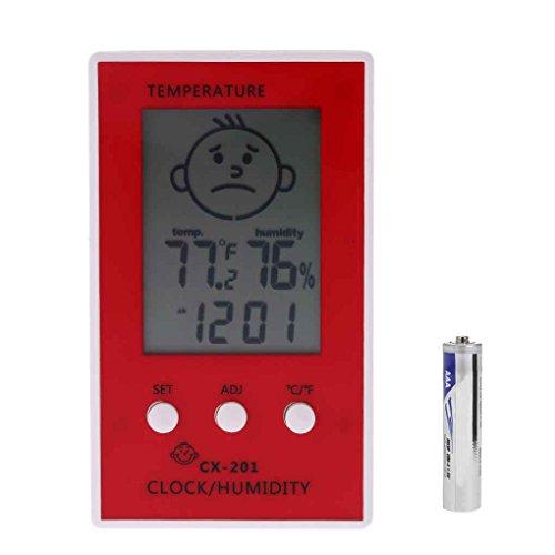 CX-201 Digital LCD thermometer hygrometer klok Luchtvochtigheid Temperatuur Meter Baby Face Comfort Niveaudisplay Weerstation