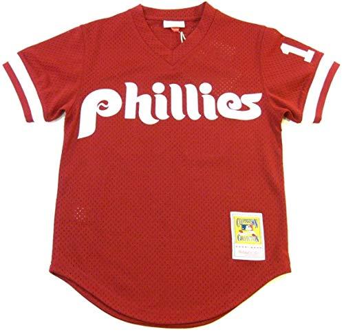 John Kruk Philadelphia Phillies Mitchell & Ness Authentic 1991 Batting Practice Jersey