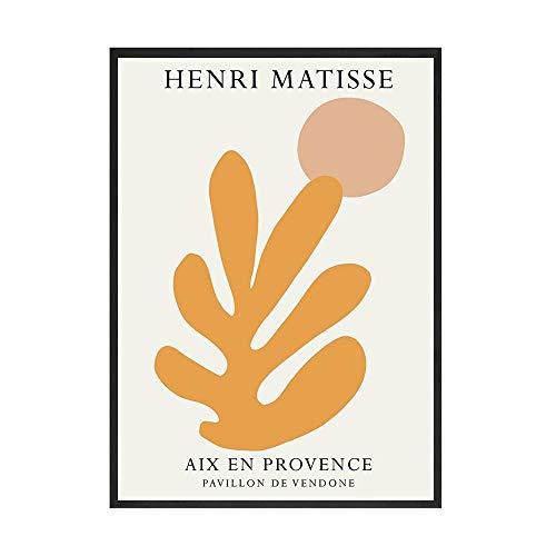 Retro abstracto Matisse dibujo lineal minimalismo cartel europeo impresin artista Ju sin marco lienzo pintura C 30x45 cm