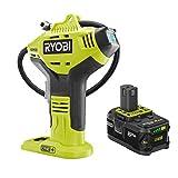 Ryobi P737D 18-Volt ONE+ Cordless High Pressure Inflator with Digital Gauge & 4.0 Ah 18-Volt Lithium-Ion High Capacity Battery (Bulk Packaged)