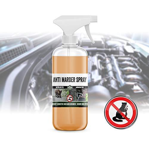 Martenbrown® Marder Abwehr Spray [500ml] Mardervergrämung Natürliche Alternative zu Marderschreck und Marderfalle | Marder Abwehr I Anti Marder Spray