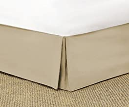 SRP Bedding Real 350 Thread Count Split Corner Bed Skirt/Dust Ruffle King Size Solid Light Taupe 23