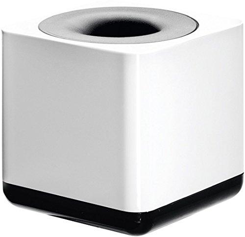 HAN Klammernspender i-Line 17652-32 in Weiß-Schwarz / Eleganter, moderner Büroklammernspender mit Ringmagnet / Für einen stylischen Schreibtisch