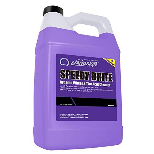 Nanoskin SPEEDY BRITE Organic Wheel & Tire Acid Cleaner [NA-SBE128], 1 Gallons