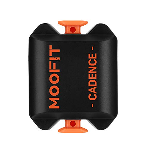 moofit Cycling Cadence Sensor with Bluetooth & ANT+ IP67 Waterproof Wireless Bike Cadence Sensor for Wahoo Zwift Polar Elite HRV Tomtom Endomondo Peloton (MooFit app Unavailable)