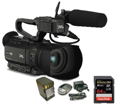 Kit Camcorder GY-HM200 JVC 4K Ready CMOS 1/2 - WiFi Ottica 12x stabilizzata HDMI Output 4K Ultra HD + 1 Battery + 1 Battery Charger + 1 Memory Card Sandisk 64Gb - 95Mb