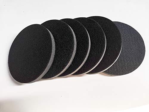 6 Pack 5 Inch Density Interface Pads Hook and Loop, Soft Sponge Sanding Disc Backing Pads, Foam Buffering Pad for Sanding Pad