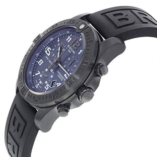 Breitling Chronospace Evo Night Mission Mens Watch w/Black Diver Pro III Rubber Strap V7333010/C939-153S