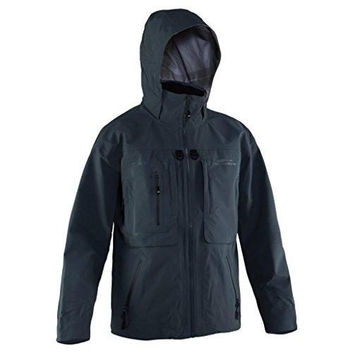 Grundéns Men's Dark and Stormy Fishing Jacket, Black - Large