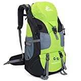 RuRu Monkey 50 Liter Hiking Backpack Daypack for Outdoor Camping Traveling,Green