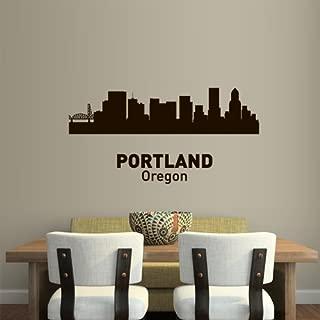 Wall Vinyl Sticker Decals Decor Art Bedroom Design Mural Words Sign Town City Skyline Portland Oregon (Z3060