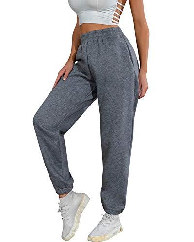 heekpek Jogginghose Damen Baumwolle Sporthose Damen Lang Sweatpants Lässige Lose Freizeithose Damen Lang für Gym Trainings