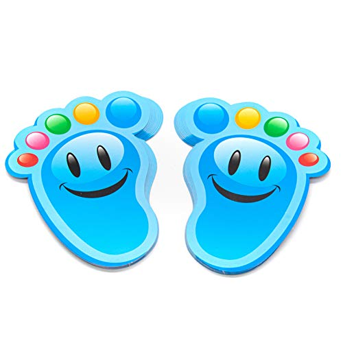 AUEAR, 15 Pairs Cartoon Guide Self-Adhesive Footprints Stickers Floor Decals for Room Floor Stairs Decor Party Nursery