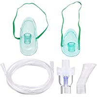 Inhalador Nebulizador aerosol accesorios adecuado para todas las máquinas,inhalación Compresor Kit Incluye Tubo, adulto Máscara, Máscara para niños, inhalador Boquillas, medicinal Cup etc