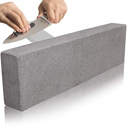 Pietra per affilare – Pietra per affilare – Misura molto grande, pietra naturale, lunga durata, affilacoltelli e utensili – arenaria grigia di grado medio