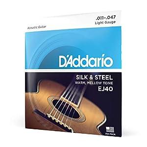 D'Addario EJ40 Satz Silbersaiten für Akustikgitarre 011′ – 047′ Silk & Steel