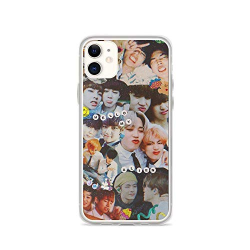 Compatible with iPhone 11 Pro Max Case BTS VMIN Soulmate 95z Friends Jimin and Taehyung Cutest Moments Gift Clear Side Printed Cover Phone Cases