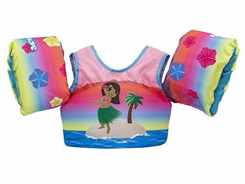 Body Glove 13226-ONE-HULAGRL Kids Paddle Pal Hula Girl Learn To Swim Life Jacket, One Size