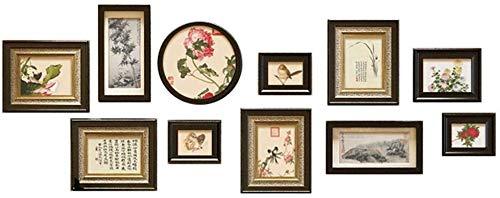 YLCJ Decoratie foto muurverf set Set van 11 stuks, 182x70cm Meerdere frame fotolijst Geschilderde muurfoto's Achtergrond Wanddecoratie Kunst
