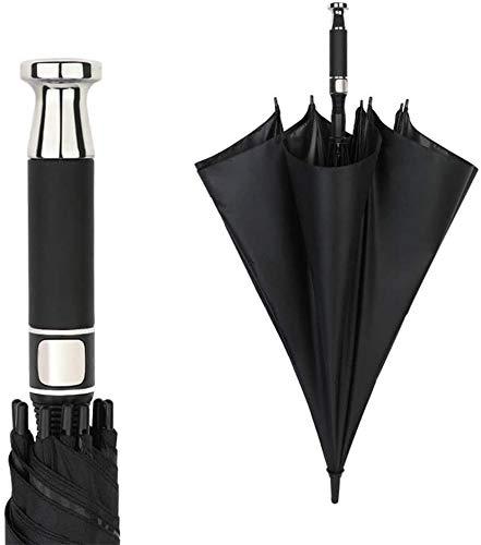 sknonr Rolls-Royce Stiel Regenschirm, Große Straße Pole Double Golf Sunny Umbrella Männer Geschenke (Color : Black)