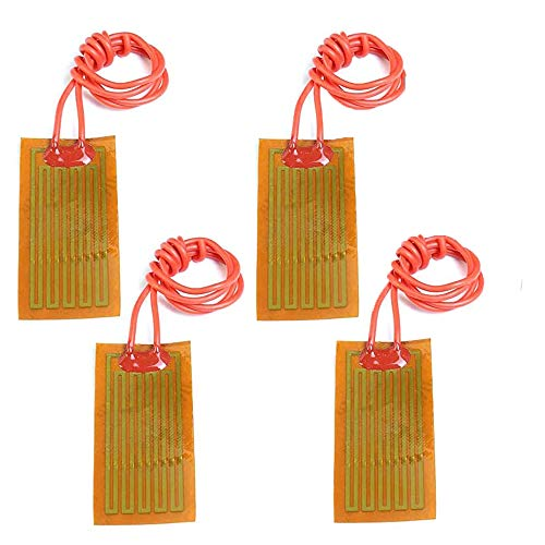 Icstation 12V 7W Flexible Polyimide Heater Plate Adhesive PI Heating Film 25mmx50mm (Pack of 4)