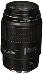100mm macro USM lens with f/2.8 maximum aperture for Canon SLR cameras Focal length: 100mm, Closest focusing distance : 1 foot (film plane to subject) Secondary diaphragm blocks stray light at f/2.8 for increased contrast, Ultra-sonic monitor provide...