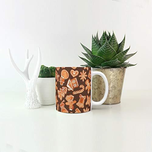 O5KFD & 8 11 oz water thee mok met handvat porselein glossy mok - kerstcadeau, pak voor familie