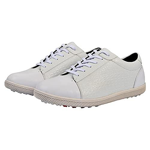 Zapatillas De Golf De Los Hombres, Zapatillas De Zapatos De Entrenamiento De Golf Antideslizante Profesional Impermeable Apictador De Zapatillas Deportivas De Golf,Gris,42 EU