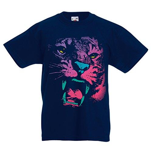 N4394K La Camiseta de los niños ¡El Tigre! (14-15 Years Azul Oscuro Multicolor)