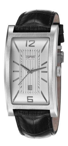 ESPRIT Collection EL101851F04 - Reloj analógico de Cuarzo para Hombre, Correa de Cuero Color Negro