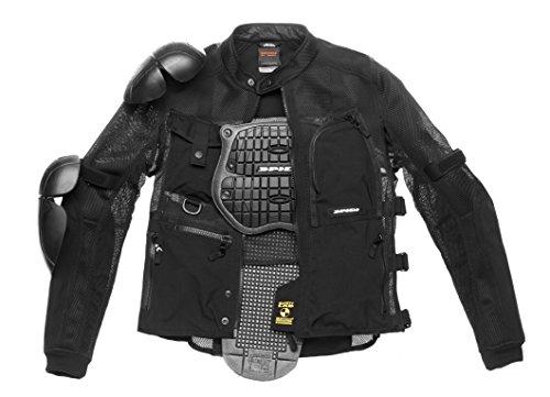 SPIDI - Chaqueta textil Multitech Armor Evo, color negro, talla S