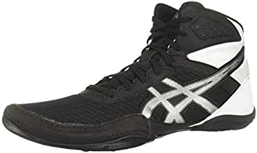 ASICS Men's Matflex 6 Wrestling Shoes, 10.5, Black/Silver