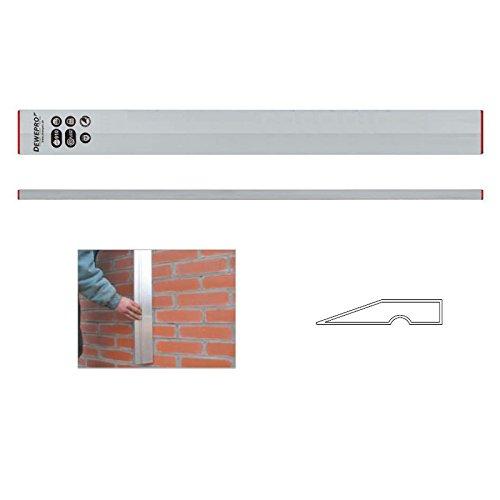 DEWEPRO® Aluminium Trapez Kartätsche - Abziehlatte - Richtscheit - Putzlatte - Kardätsche - Länge: 200cm / 2m