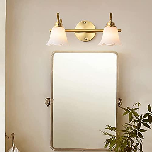 YMLSD Lámparas de Pared, Luz de Espejo Led, Luz de Baño Dere de Imitación Retro Americana, Luz Moderna de Acrílico para Gabinete con Espejo, Luz Frontal de Espejo de 40Cm Y 7W,40Cm en Ambos Extremos