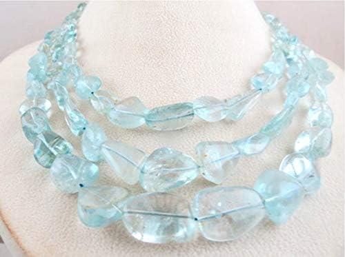 GemAbyss Beads Gemstone 3 Mesa Mall Line N Topaz Natural Tumble cheap Blue