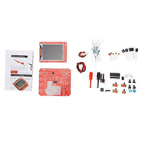 Osciloscopio de almacenamiento digital portátil de mano Kit de producción de bricolaje de código abierto Juego de aprendizaje electrónico soldado SMD Medidor de alcance digital de bolsillo