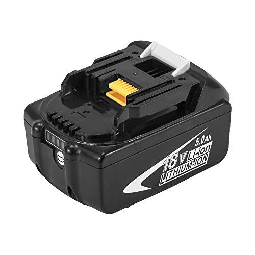 Batería de repuesto 18V 5000mAh para Makita Batería de iones de litio BL1860B BL1860 BL1850B BL1850 BL1845 BL1840B BL1840B1818B BL1830 BL1825 BL1820 BL1815 LXT-400 con indicador