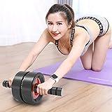 IJNUHB Ab Roller Attrezzo Rullo AB per Fitness Macchine Fitness Maneggevole E Trainer per Muscoli Addominali Allenatore Muscolare con Un Tappetino da Yoga
