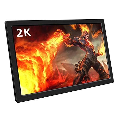 Corkea 10.1インチ モバイルモニター 2K 2560 * 1600解像度 モバイルディスプレイ IPS液晶パネル ポータブルモニター USB/Mini HDMI*2 スピーカ内蔵 PS3/PS4/Raspberry Pi/Nintendo Switch/XBOX ONE S/XBOX ONE対応