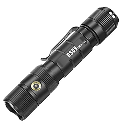 Deseeker LED Tactical Flashlight with Magnetic USB Rechargeable Cable, CREE 1380 Lumens Flashlights High Lumens Rechargeable Flashlight for Emergency or Camping, Waterproof