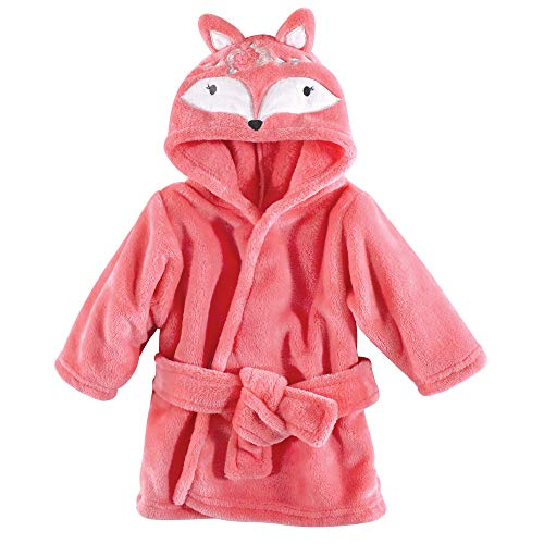 Hudson Baby Unisex Baby Plush Animal Face Robe, Boho Fox, One Size, 0-9 Months