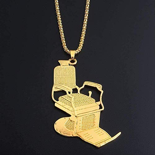 Yiffshunl Halskette Gold Fashion Halskette und Charming Silber für Friseur Rasiermesser Halsketten Anhänger Schmuck Hip Hop Halsketten für Männer Frauen