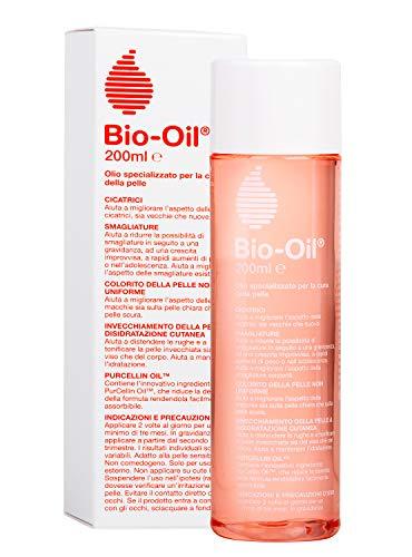 Bio-Oil Olio per Cicatrici e Smagliature, Trattamento per la Pelle con Azione Idratante, Cicatrizzante e Anti Smagliature, Indicata per Pelli Sensibili, 200 ml