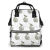 Bolsa para pañales, elegante mochila impermeable para bebé, mochila de viaje multifunción, bolsa de pañales de maternidad (cuerno francés)