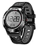 Pulsera Inteligente Bluetooth Smart Watch Fitness Actividades IP68 Impermeable Calorías Distancia Compatible con Android System-Grey