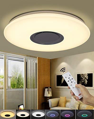 Natsen® 48W Modern Deckenlampe LED Deckenleuchte Nachtlicht voll dimmbar Fernbedienung (620 * 620 * 60mm)